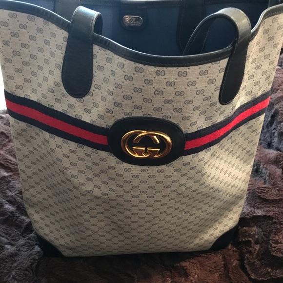 d3e42402824 Gucci Handbags - Authentic GUCCI Vintage 80s XL SHOPPER TOTE